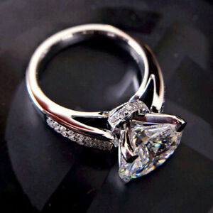 3-20-Ct-Diamond-Round-Cut-Solid-14K-White-Gold-Over-Engagement-Wedding-Ring