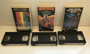 STAR-TREK-VHS-LOT-OF-3-MOVIES-The-Motion-Picture-Wrath-of-Khan-Search-For-Spock