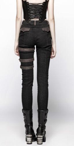 Clouté Pantalon Punkrave Steampunk Lolita Zip Cuir Sangle Punk Gothique Jeans C OqwZPqA4