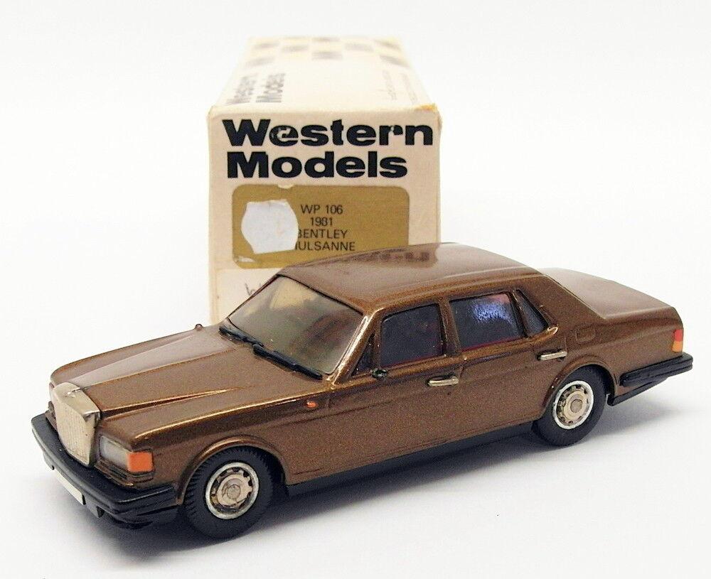 WESTERN MODELS échelle 1 43 voiture modèle WP106 - 1981 Bentley Mulsanne-met marron
