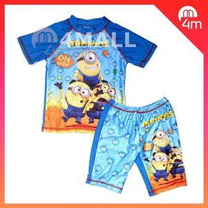be88c42a9a33d Image is loading 2pcs-Kids-Boys-Despicable-Me-Minions-Swimwear-Bathers-