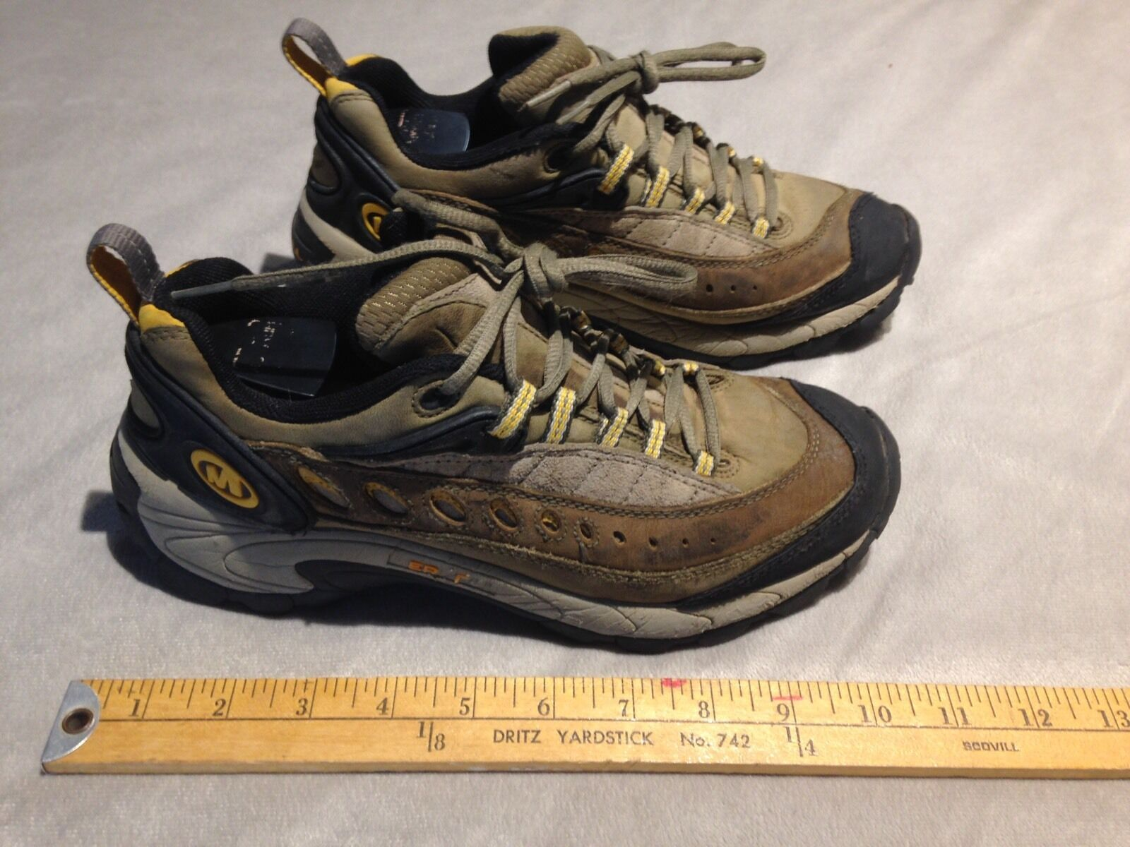 MERRELL PULSE SAGE Women's Suede Leather Trail Hiking shoes US 7.5 Multi color