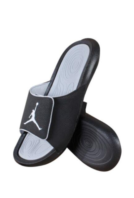 new styles a44ed d7a8b Nike Jordan Hydro 6 Retro Slides Mens Athletic Sandals Black Grey 881473 8  for sale online   eBay