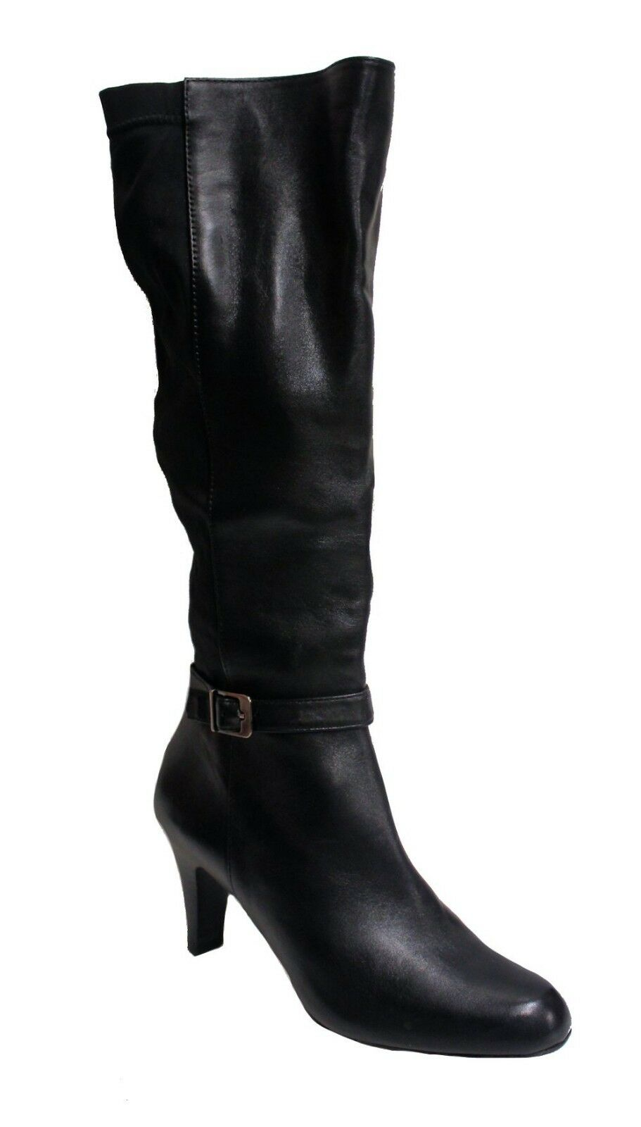 Franco Sarto Women's Round Toe Yonkers Boot Black US L7W R7M Mismatch Width