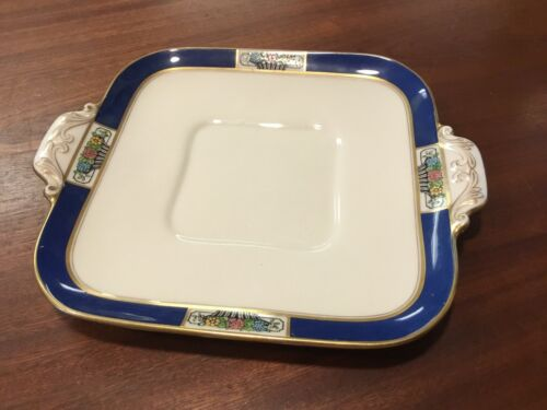 RARE Vintage Lenox Syracuse Blue Mark Square Serving Dish