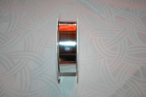 25 Meter Polyband Kräuselband 40 mm silber//gold metallic farbig Hochzeit Maibaum