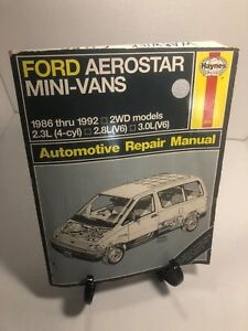 Teardown-amp-Rebuild-1986-1992-Haynes-Ford-Aerostar-Mini-Vans-2-3L-4cyl-V6-2-8-3-0
