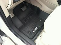Front & Second Row Black Floor Mats For A 2013 - 2016 Ford Escape