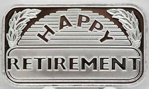 2019-Happy-Retirement-999-Silver-Art-Medal-1-oz-ingot-Bar-gift-Retiree