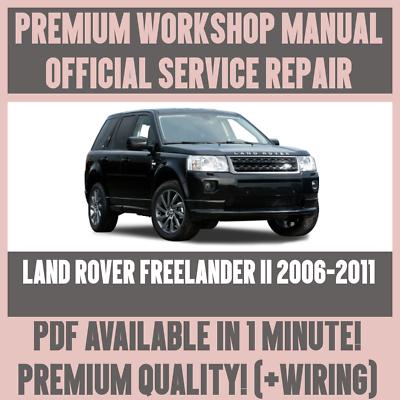 Land Rover Freelander 2  Workshop Service Repair Manual 2007-2011 on CD