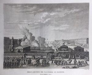 Paris-en-1792-La-Patrie-en-danger-Rare-Gravure-de-la-Revolution-Francaise