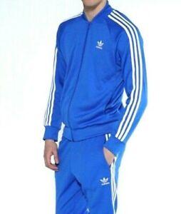 Details about LG adidas Originals MEN'S SUPERSTAR TRACK TOP & CUFFED TRACK PANTS BLUE LAST1