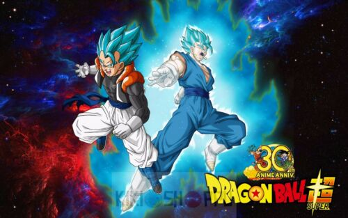 Poster A3 Dragon Ball Super Goku Vegeta Super Saiyan Blue God Decor Impresion 01