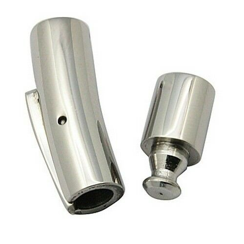 1Set Tube Bugle Cord End 304 Stainless Steel Cord Snap Bayonet Clasp DIY Finding