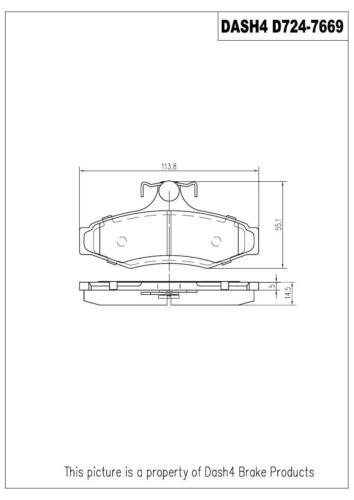 Disc Brake Pad-Semi Metallic Pads Rear Dash 4 Brake MD724
