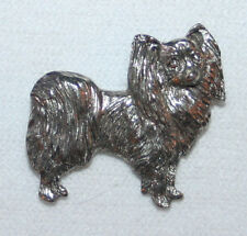 Papillon Dog Fine PEWTER PIN Jewelry Art USA Made