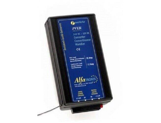 Alfatronix PV12I Converdeidor CC-CC 24-12, 12A cont 18A interm. 144W. Aislado