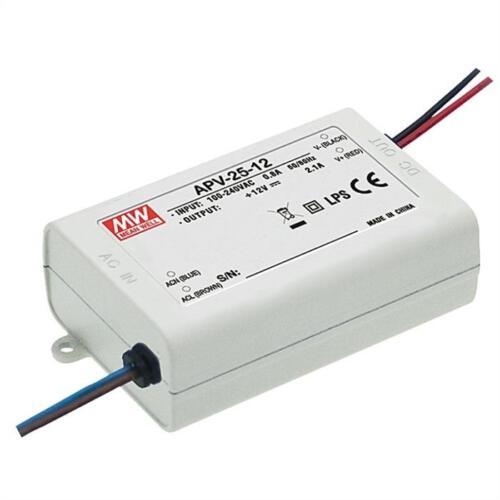 apv-25-12; boutons bloc d/'alimentation Alimentation LED 25w 12v 2,1a; MeanWell