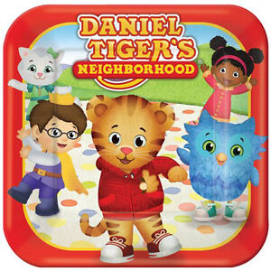 Image is loading DANIEL-TIGER-039-S-NEIGHBORHOOD-SMALL-PAPER-PLATES-  sc 1 st  eBay : tiger paper plates - pezcame.com