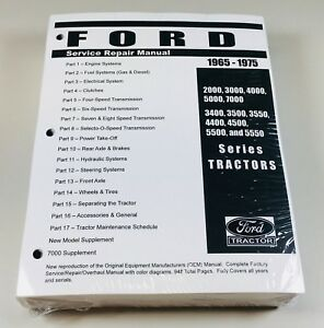 Ford-2000-3000-4000-5000-7000-3400-5550-Tractor-Service-Shop-Manual-1965-1975