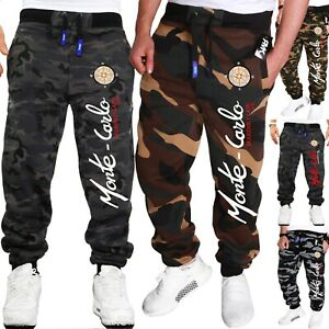 RMK-Messieurs-Jogging-Short-Fitness-Jogging-Femmes-Camouflage-Pantalon-Neuf-h-538