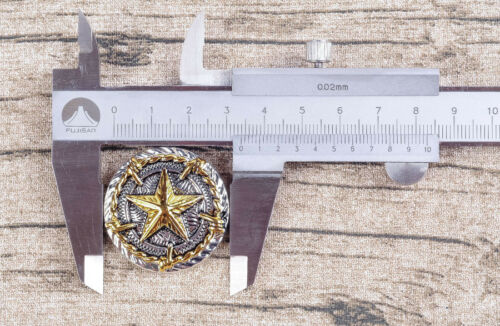 5X 34 mm TEXAS STAR barbelés Concho Leathercraft Western Selle de cheval Conchos