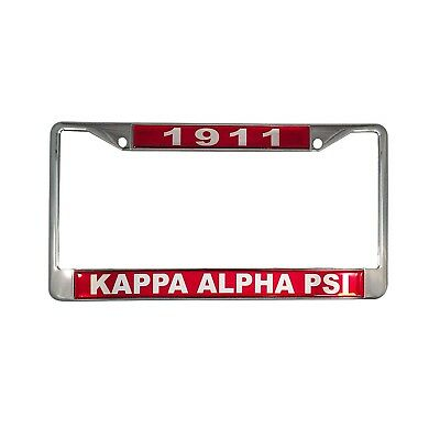 Kappa Alpha Psi Silver License Plate Frame Found Year And
