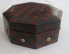 ANTIQUE  TARTAN WARE CLARK & CO COTTON DISPENSER BOX