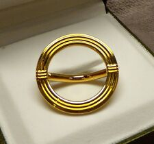 Genuine Christofle Scarf Ring (Slide), Gold Gilded, Aria Flatware 1985, New NIB