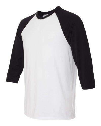 Hanes Mens 3//4 X-Temp™ Three Quarter Sleeve Baseball T-Shirt S-3XL 42BA
