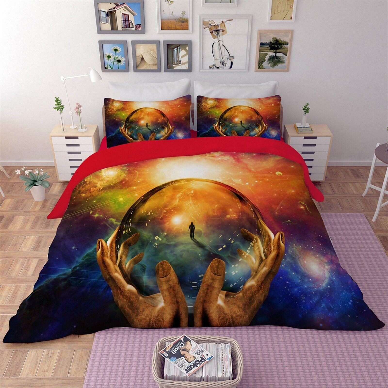 3D Fantasy World 41 Bed Pillowcases Quilt Duvet Cover Set Single Queen CA