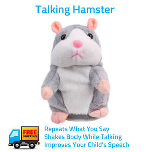 Cheeky Hamster Repeat What You Say Electronic Pet Talking Plush Toy Cute Gift US