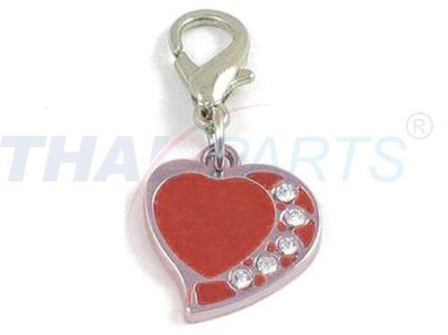 Strassanhänger Charm Herz rot #2 Strass Schmuck Anhänger bling Strass Heart red