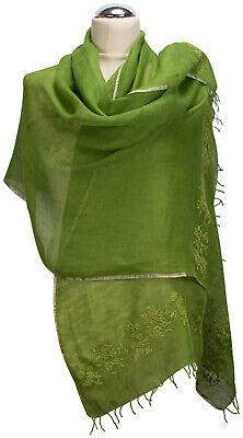 Abendstola Bestickt Stole Embroidered Grün Pailetten Schal Sequins Evening Wir Haben Lob Von Kunden Gewonnen