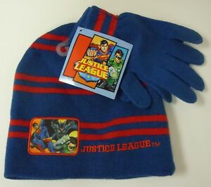 52d7ac1510d Boy s DC Justice League Beanie Cap Hat Glove Combo NEW Batman ...