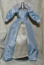 BARBIE DOTW PRINCESS OF THE DANISH COURT BLUE BOLD LACE DRESS FASHION 4 DOLL