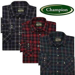 Mens-Champion-Kilbeggan-100-Cotton-Check-Shirt-Sizes-M-3XL-Work-Fishing-Outdoor