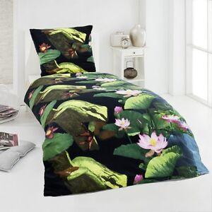 4 tlg microfaser fleece winter bettw sche 135x200 warm kuschel flausch frosch ebay. Black Bedroom Furniture Sets. Home Design Ideas