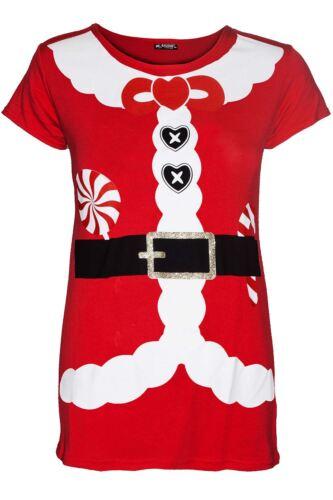 Kids Merry Christmas Printed Dancing Reindeer Cap Sleeve Girls Xmas T Shirt Top