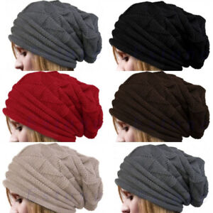 d64ffc2b13f Knit Men s Women s Baggy Beanie Oversize Winter Hat Ski Slouchy Chic ...
