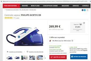 Centrale vapeur PHILIPS PerfectCare Performer Avec TURBO !!! Prix neuf 269€!!!