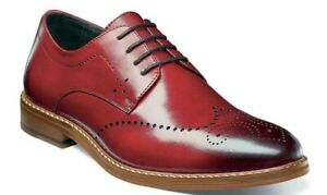 87ffe986af5 NEW - STACY ADAMS Men's 'ALAIRE' Red WING TIP OXFORD SHOES - US 11 ...