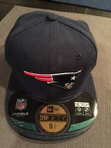 New Era 59Fifty Cap New England Patriots NFL Football Blue Fitted Team 5950 Hat