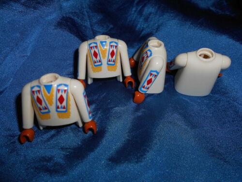 Playmobil Western Indianer Häuptling 4 x Oberkörper Arme Inlet top