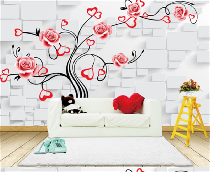 3D ROT Flowers Foliage 775 Wallpaper Mural Paper Wall Print Wallpaper Murals UK
