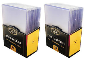 Details About 50 Cbg Hard Plastic Baseball Trading Card Topload Holders 12 Mil Rigid Protector
