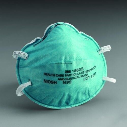 2 EA - N95 Medical Mask - 3M 1860S - Influenza/Pandemic/Surgical/Particulate SM