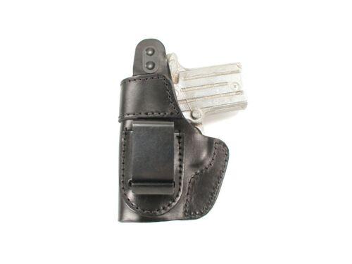 J/&J SIG SAUER P230 OWB W// BELT CLIP FORMED LEATHER HOLSTER W// THUMB BREAK
