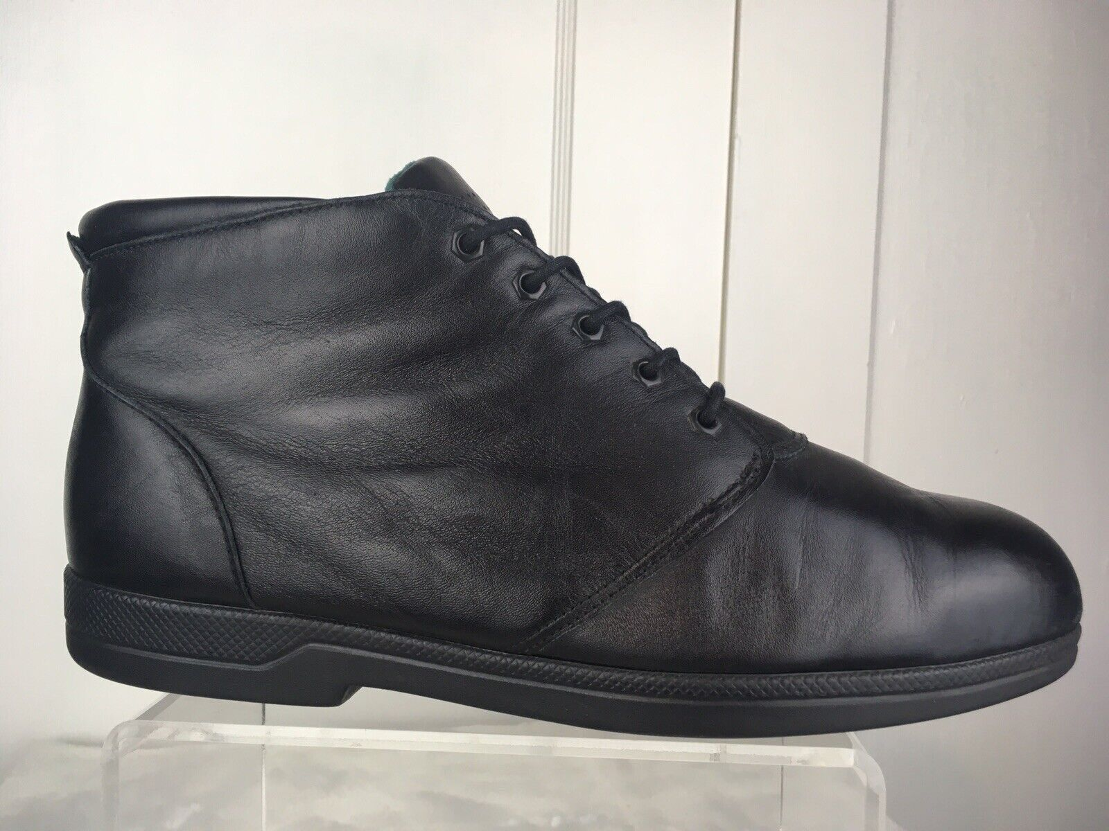 Red Red Red Wing 2370 Lace Up Steel Toe Ankle Boots Black Leather USA Women's Sz 10D GUC 79970c