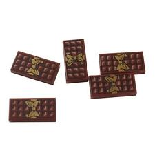 Lego 25 New Reddish Brown Tile 1 x 2 with Groove Candy Bar Chocolate Blocks